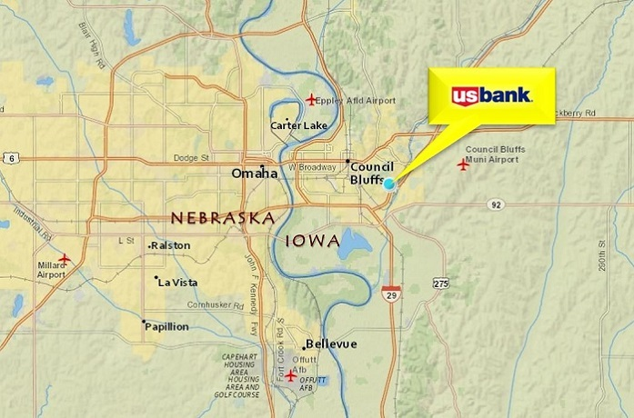 Madison Avenue Council Bluffs IA United States - Us bank map